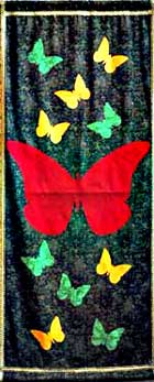 butterflies on long banner